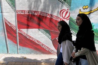 Iranian women walking