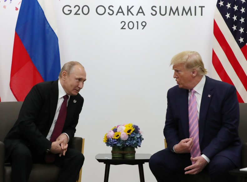 Donald Trump Russia Putin G20 Osaka Japan