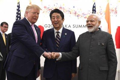 Donald Trump Shinzo Abe Narendra Modi