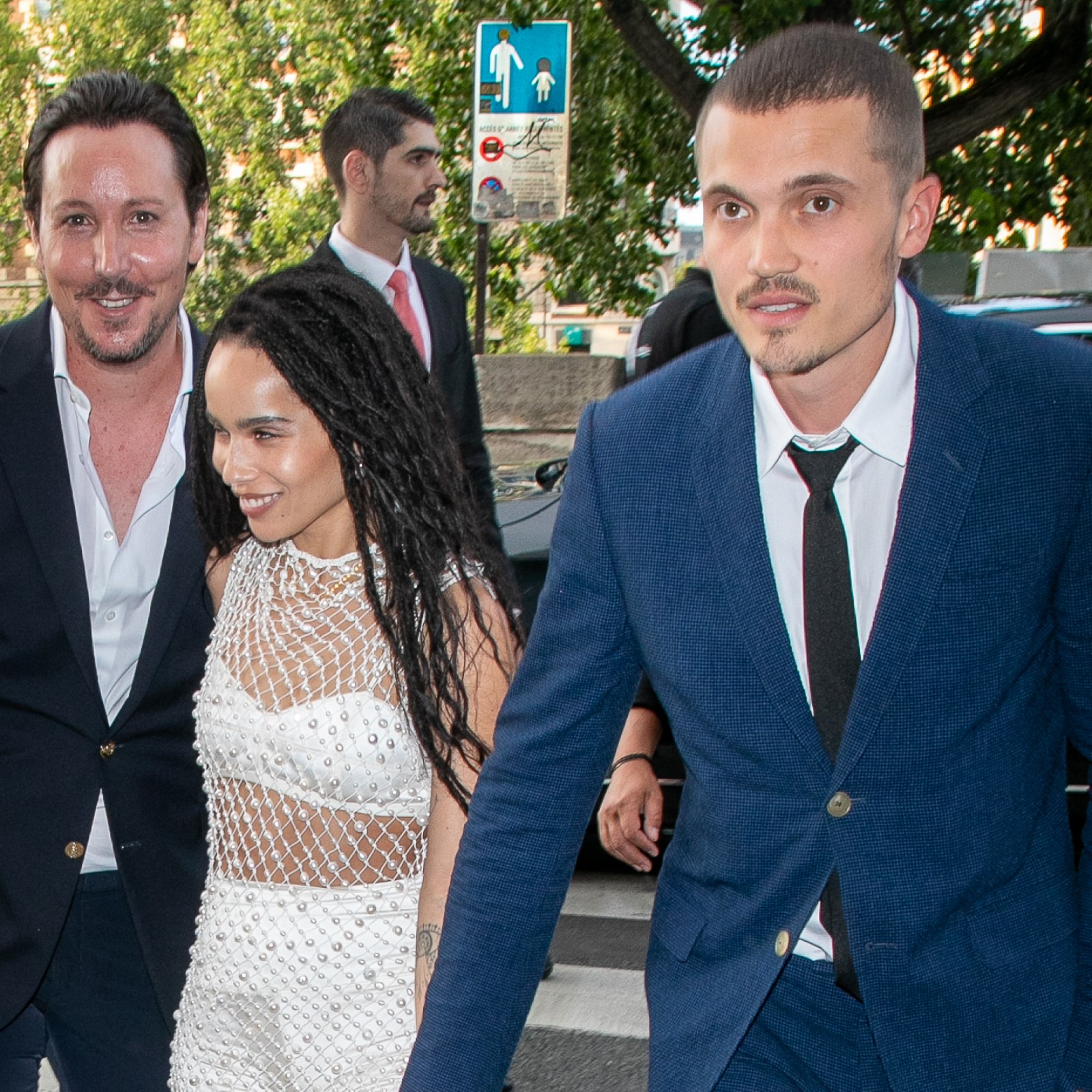Zoe Kravitz Wedding Big Little Lies Stars Flock To Paris