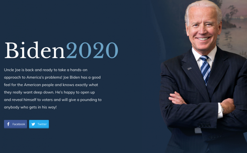 Fake Biden Website Mauldin
