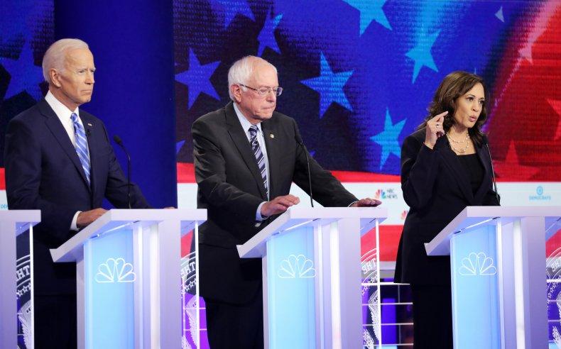 Democratic Debate Biden Sanders Harris