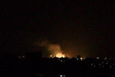 israel strike syria damascus explosion