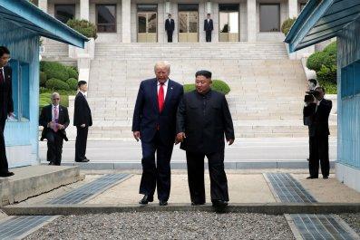 trump kim north korea dmz
