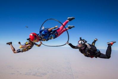 Skydivers illustrative