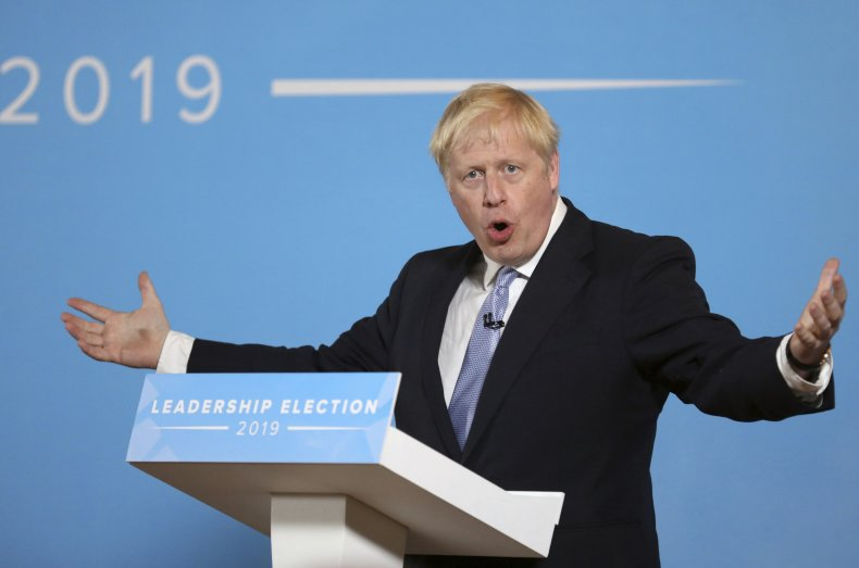 Boris Johnson Conservative Party Prime Minister UK