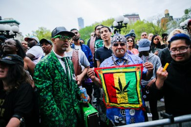 world march for cannabis legalization NY