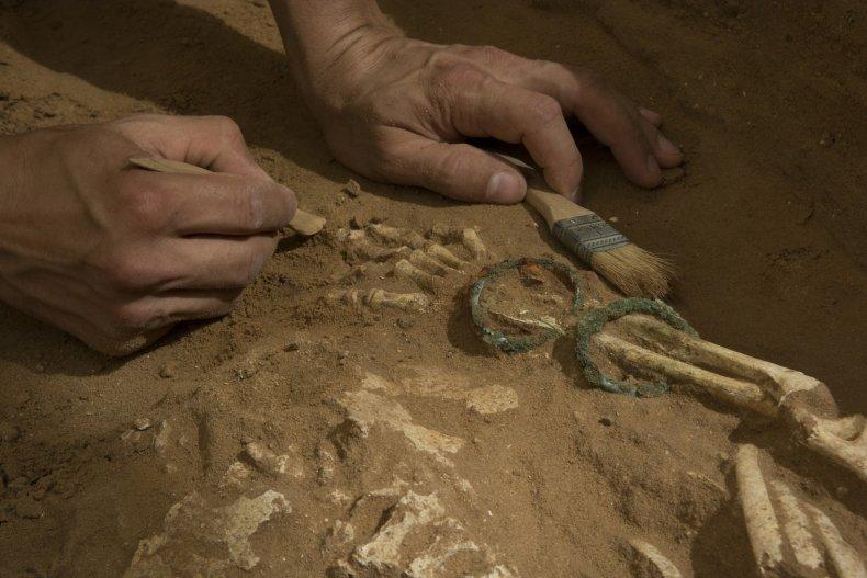 philistine skeleton