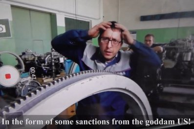 Russia sanctions US factory rap video YouTube