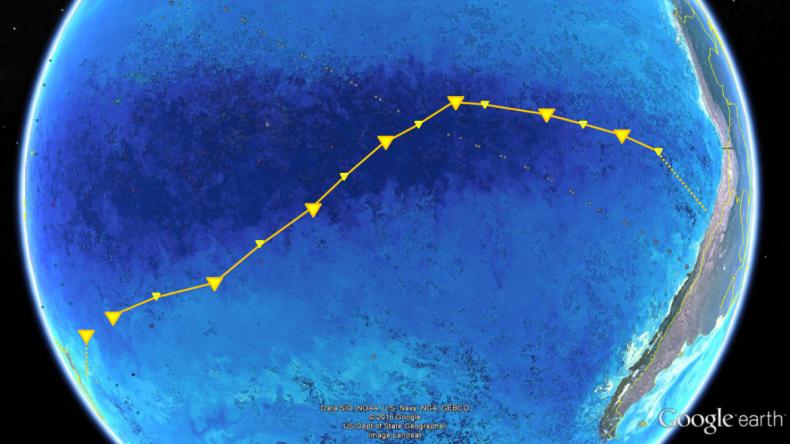 research ship path