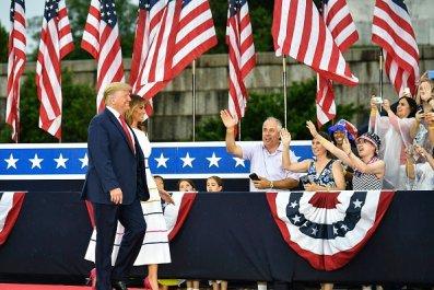 President Donald Trump Salute to America