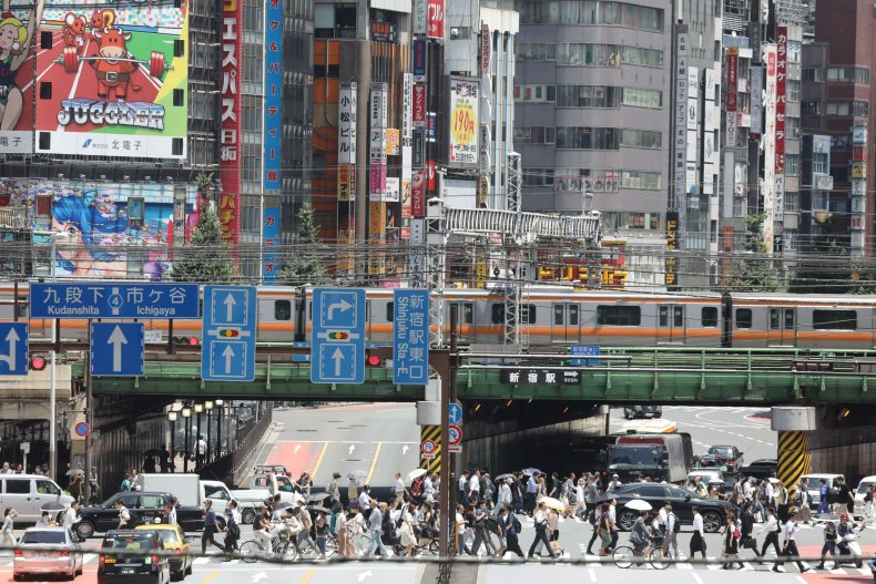 Shinjuku quarter in Tokyo
