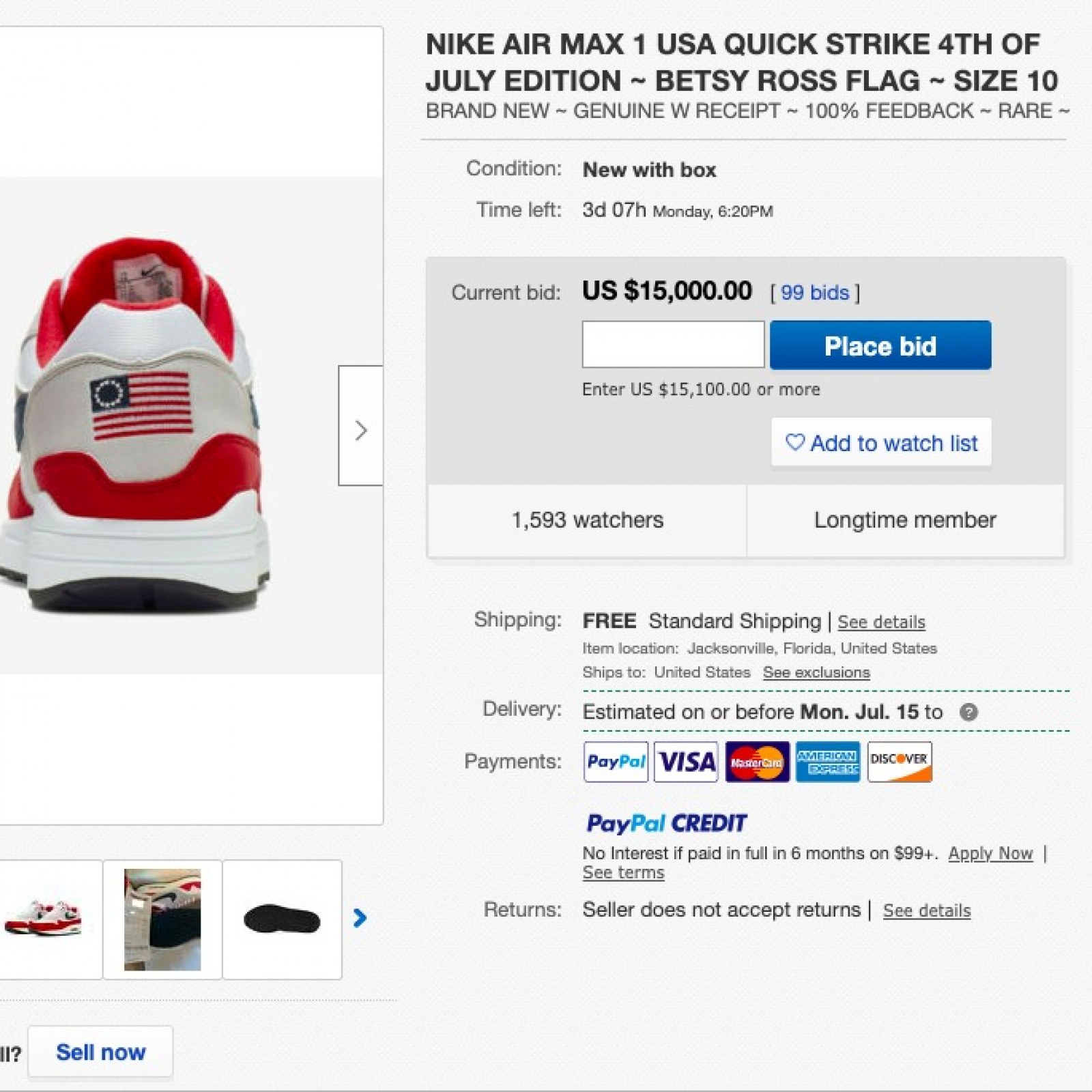 Nike flag shoes