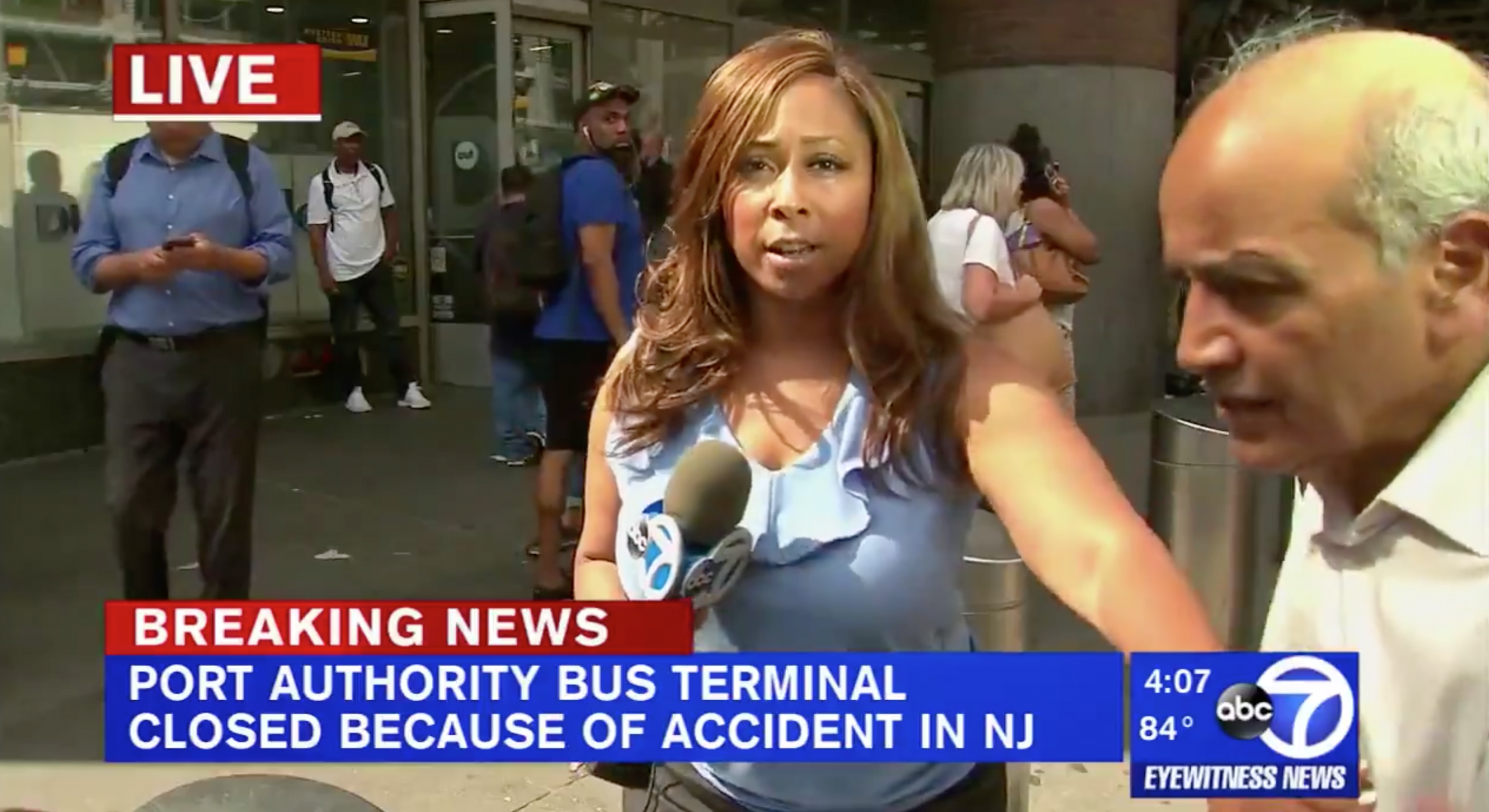 Cool-as-Cucumber TV Reporter Effortlessly Blocks Man from