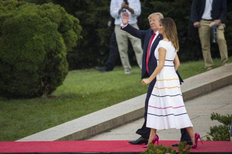 Melania Trump Pride Rainbow Dress