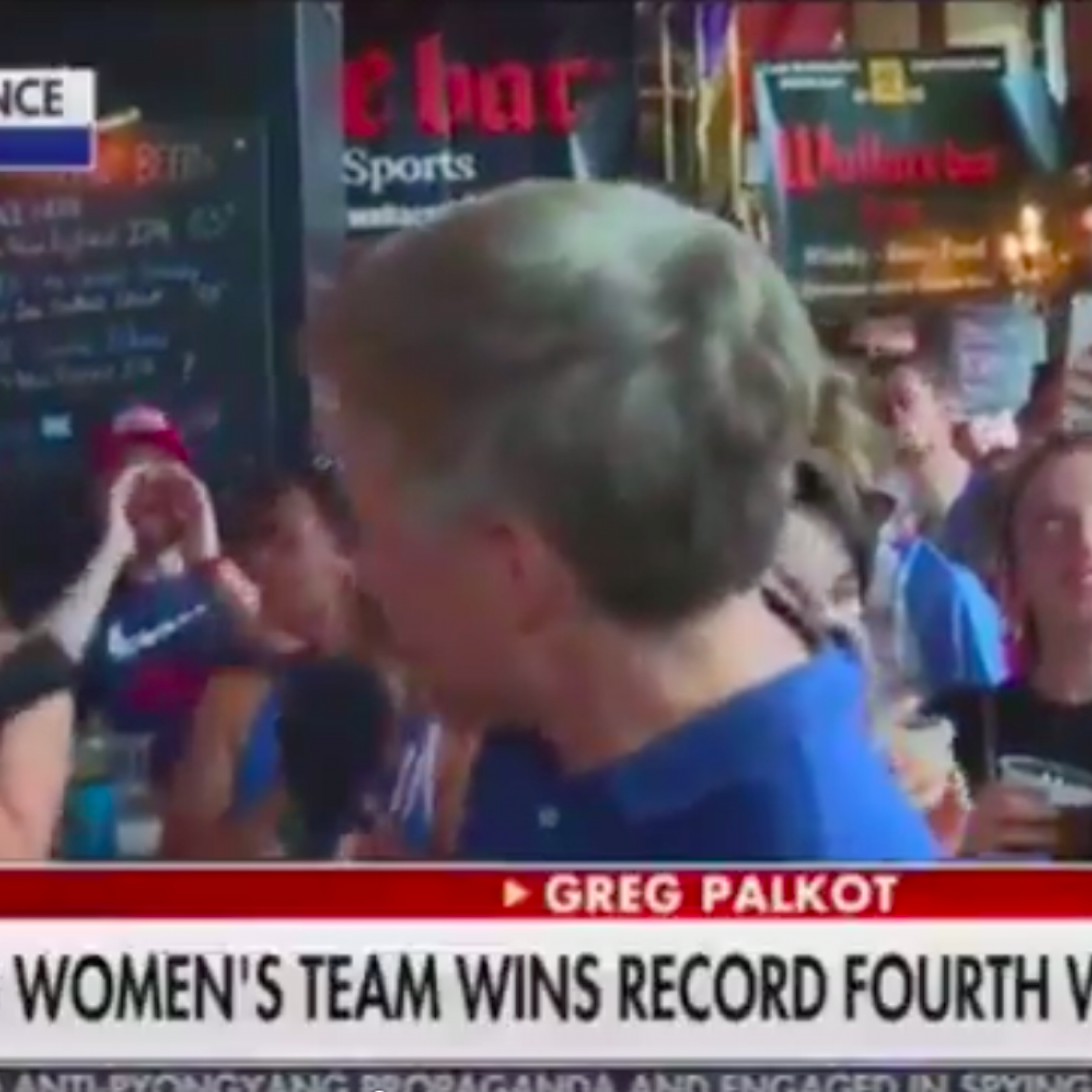 Crowd Chants 'F*** Trump' Loudly Behind Fox News Reporter