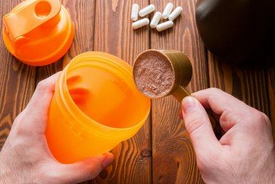 protein shake, protein powder, fitness, stock, getty