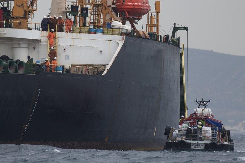 iran oil ship uk spain