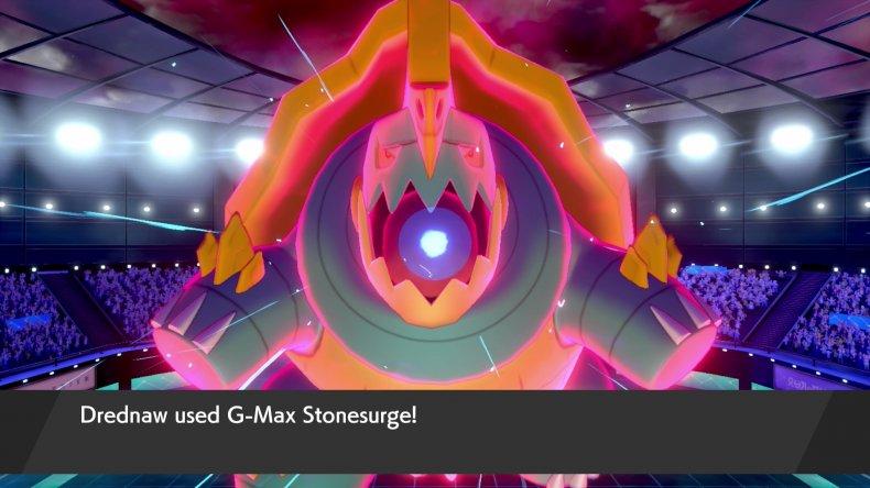 pokemon sword shield drednaw gmax move