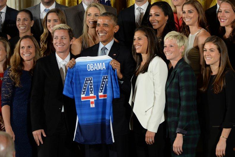 barack obama women's soccer donald trump