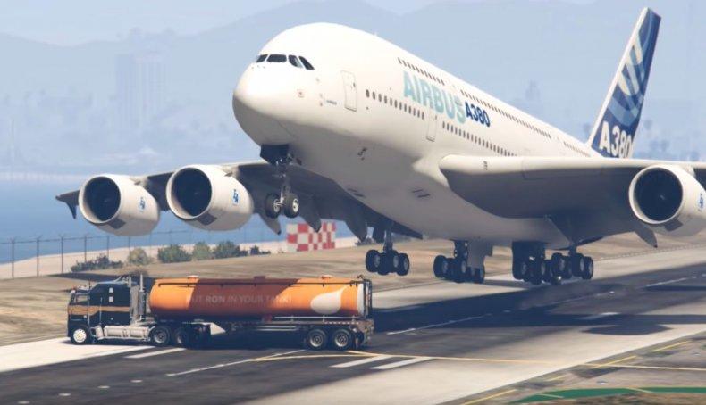 GTA 5 plane stunt
