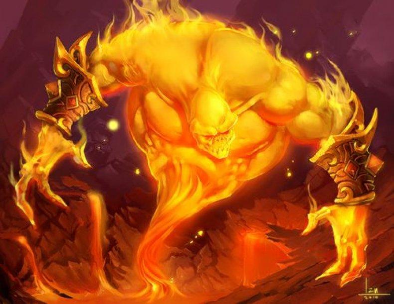 baron geddon hearthstone fire festival
