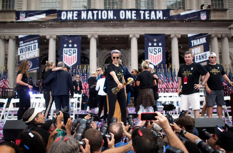 Megan Rapinoe New York Parade