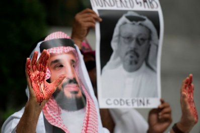 Protester for Khashoggi