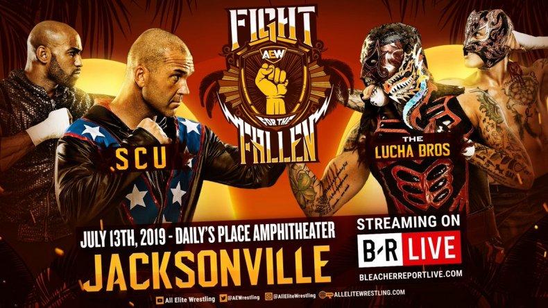AEW fight fallen scu vs lucha bros