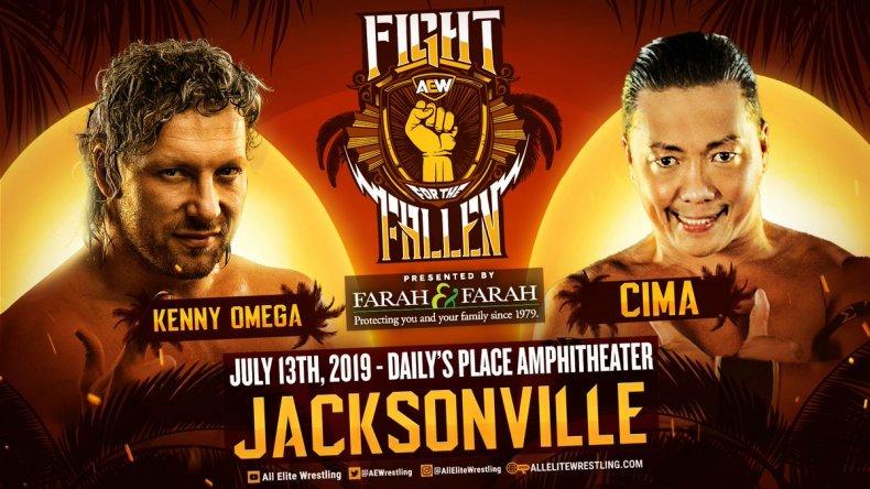 aew fight fallen kenny omega vs cima