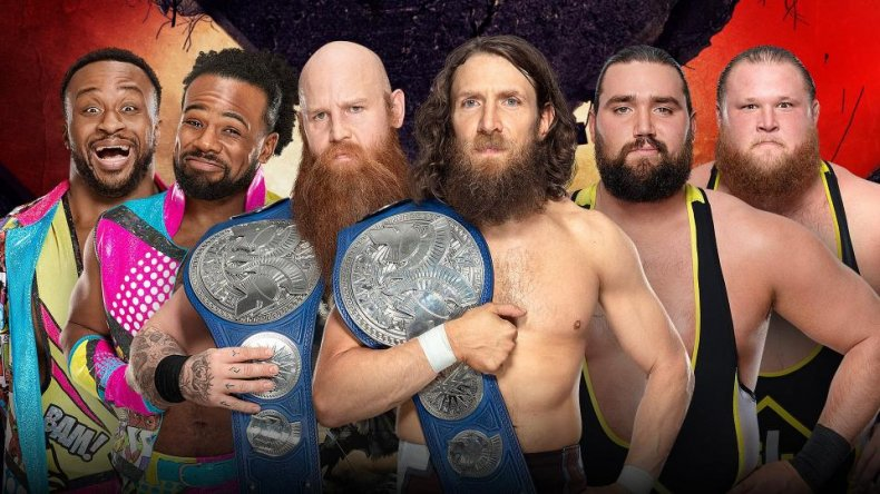 wwe extreme rules smackdown tag title match