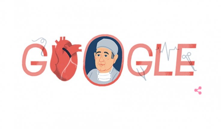 Friday's Google Doodle Honors Surgeon René Favaloro