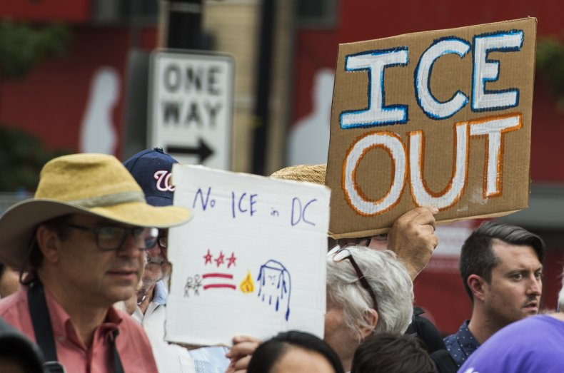ICE raids protest immigration rights
