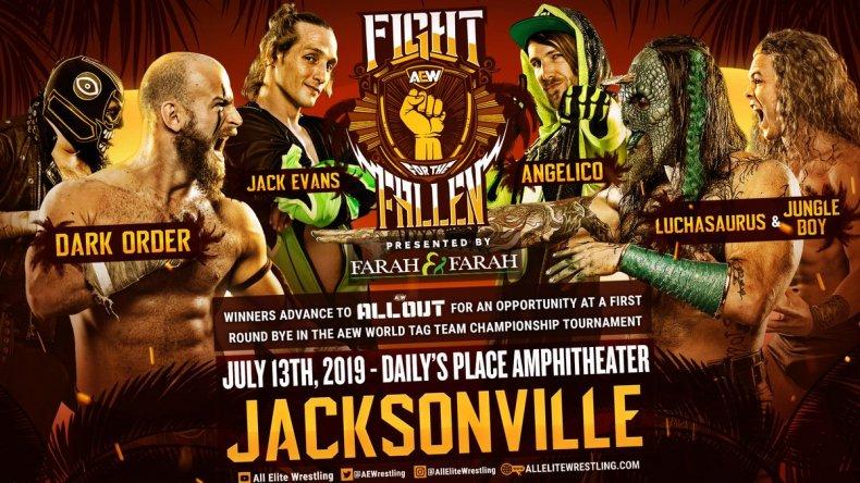 aew fight fallen tag team triple threat
