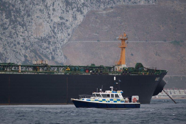 iran oil tanker british ship