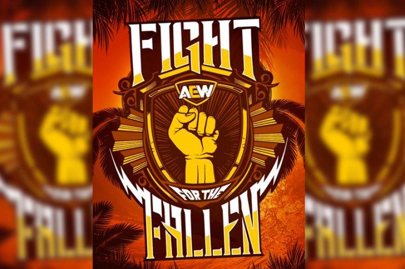 aew fight fallen start time stream online