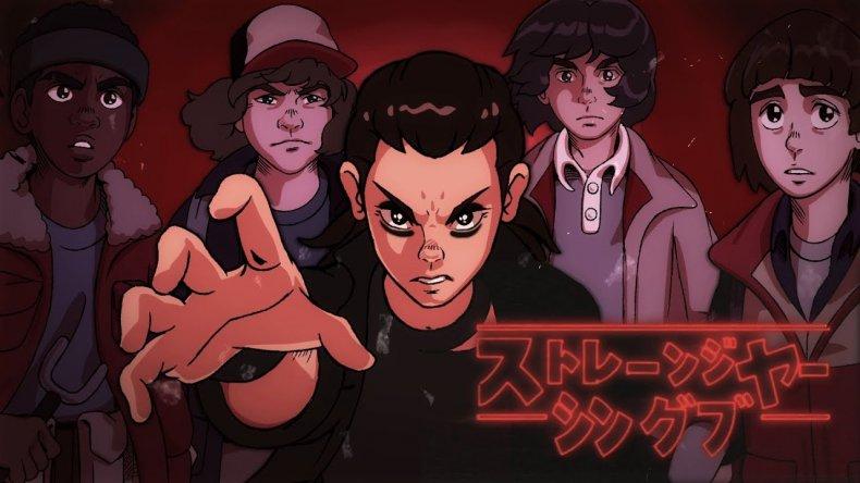 stranger things 80s anime