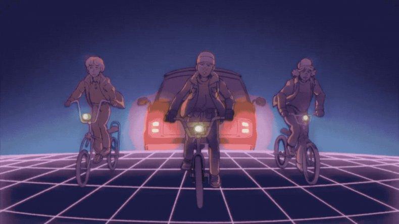 stranger things 80s anime 2