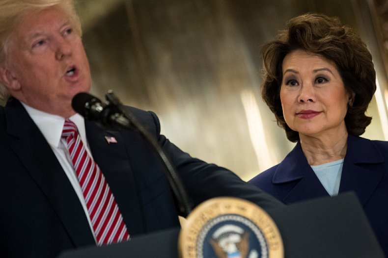 elaine chao donald trump infrastructure meeting