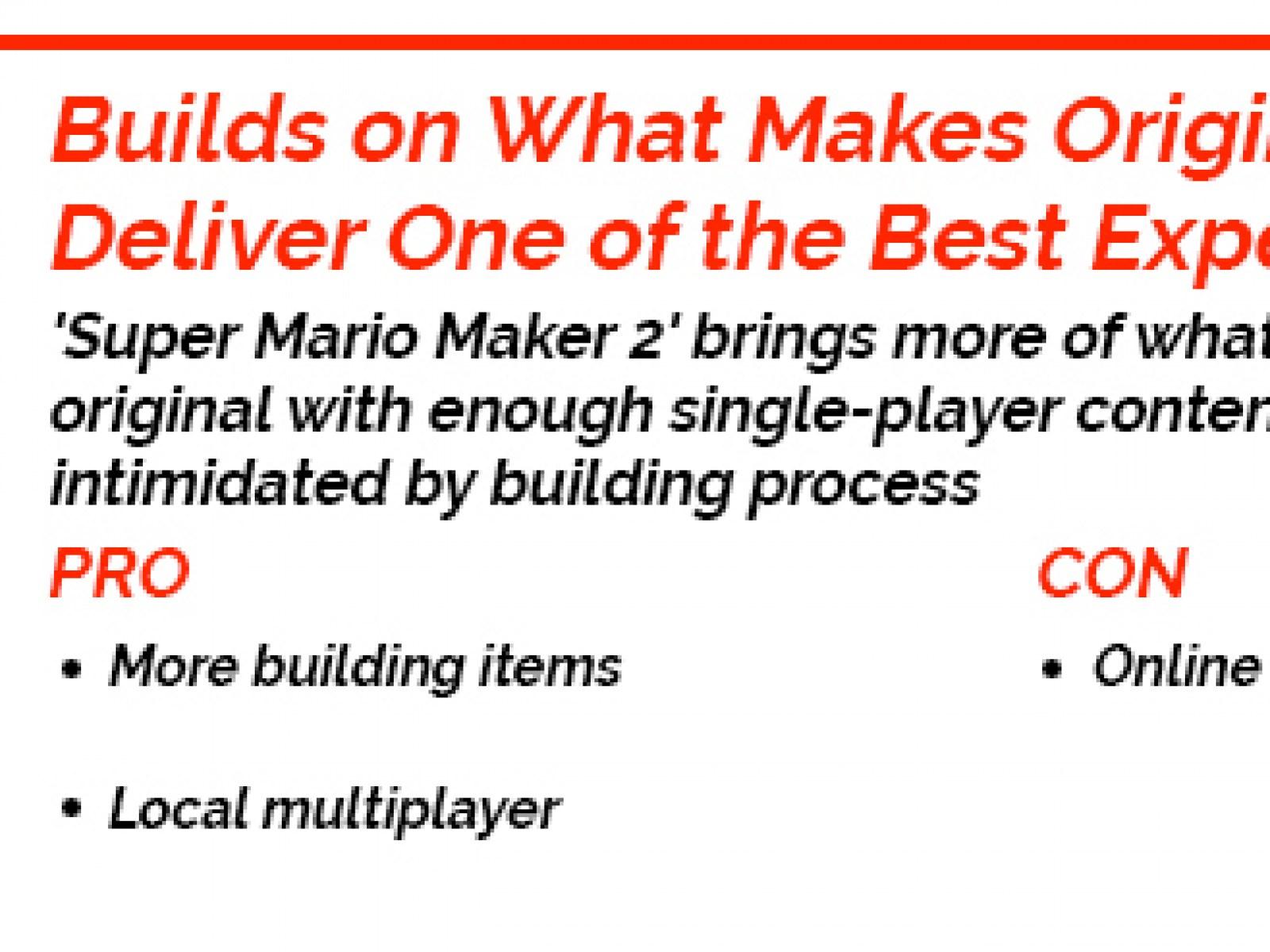 Super Mario Maker 2' Review: Builds on What Makes Original