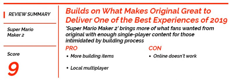 super mario maker 2 review card