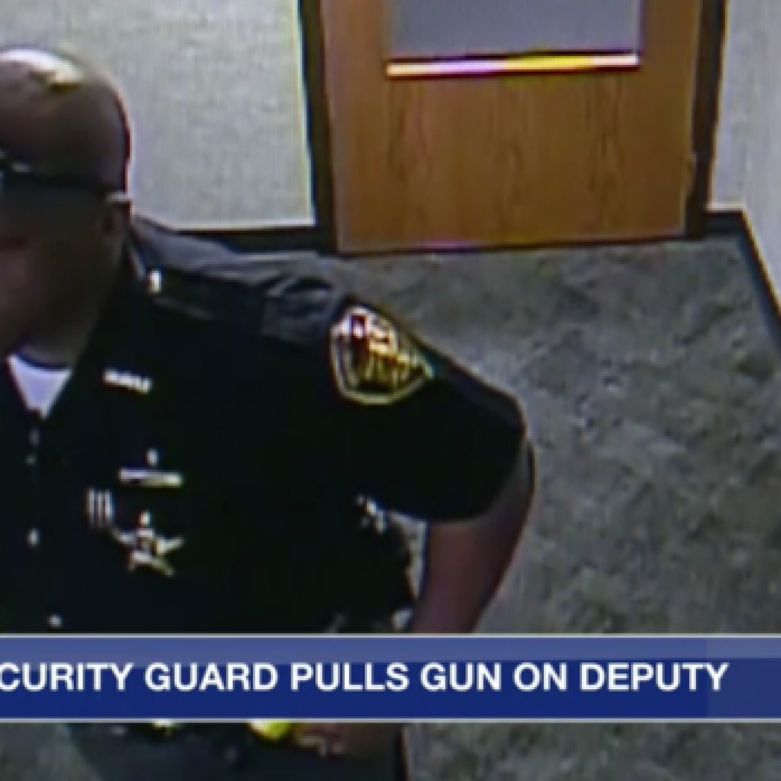 White Security Guard Pulls Gun on Black Police Officer in