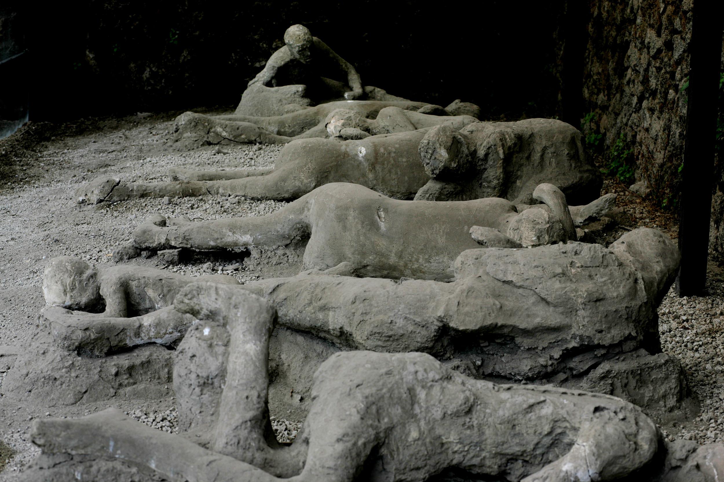 Stone phalluses of pompeii pompeii, italy