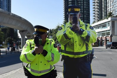 Constable Scarecrow Canada Fake Cop