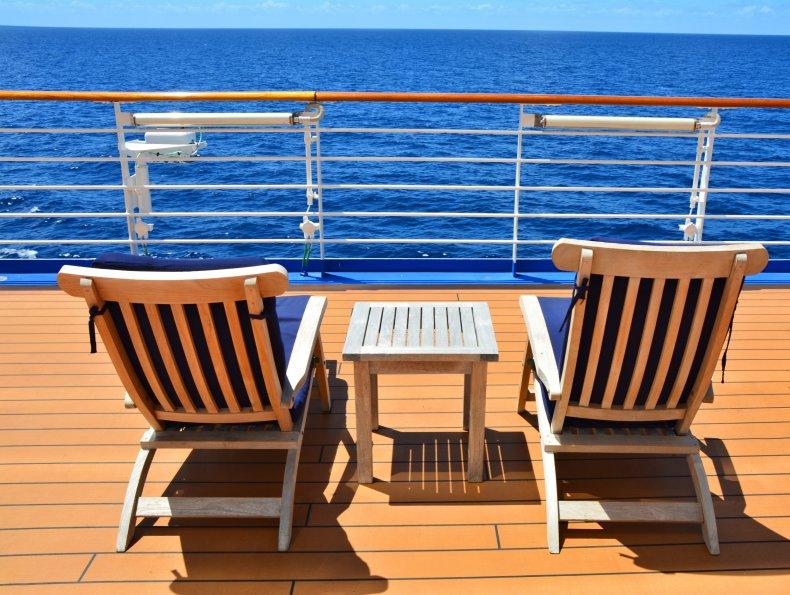 cruise ship, sun bed, sun lounger, holiday,