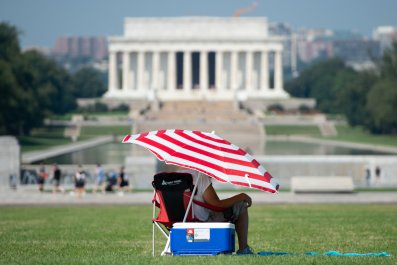 heatwave, hot, weather, Lincoln Memorial, Washington, DC,