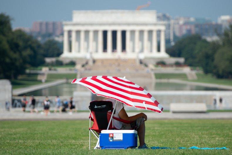 heatwave, hot, weather, Lincoln Memorial, Washington, DC,