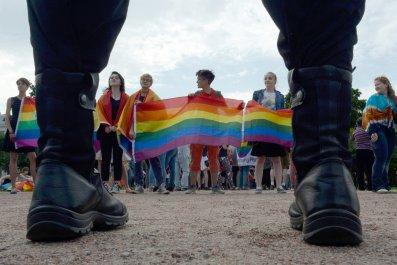 Russia LGBTQ Protest