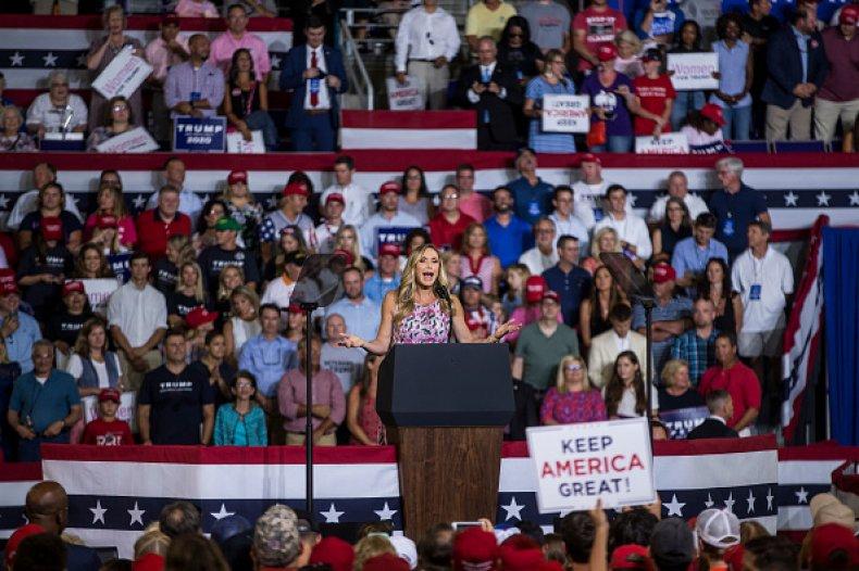 lara trump speaks MAGA rally north carolina