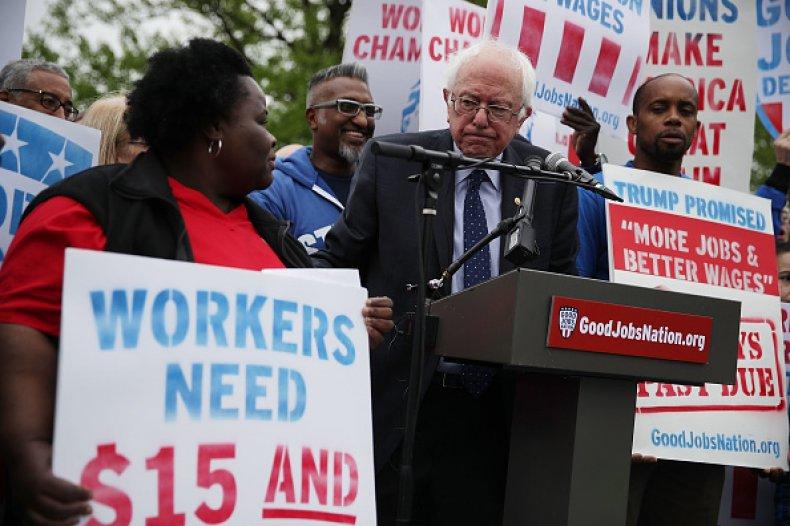 bernie sanders $15 wage 2020 campaign